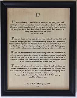 Desiderata Gallery Brand, Wood Framed If Quote by Rudyard Kipling (Author of The Jungle Book Written in 1895) 10x12