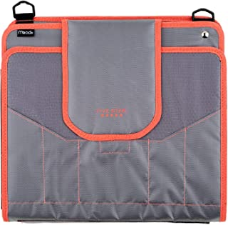 "Five Star Zipper Binder, 2 Inch 3 Ring Binder, 4"" Capacity, 5-Pocket Expanding File, Durable, Colors may vary (28044)"