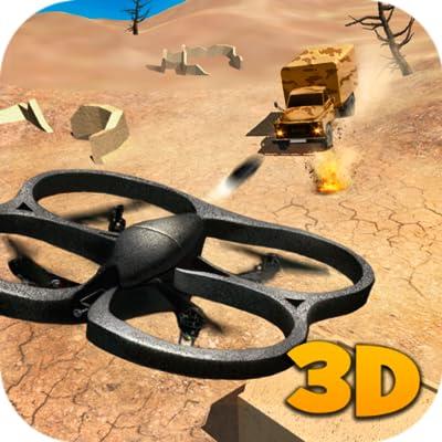 Machine Gun Quadcopter Simulator: Gunner Multirotor Sim |Minigun Drone Flying Simulator | Armed Forces Shadow Drone Flight Simulator Game