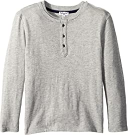 Always Basic Long Sleeve Henley (Toddler/Little Kids)