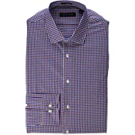 Tommy Hilfiger Men's Dress Shirts Non Iron Slim Fit Check