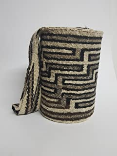 Real Native Colombian Arhuaco handbag - Colombian mochila - Handmade and woven from sheep wool by women ARSEY 0051