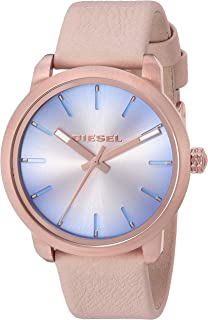 Diesel Women's 'Flare Degrade' Quartz Stainless Steel and Leather Casual Watch, Color:Beige (Model: DZ5572)