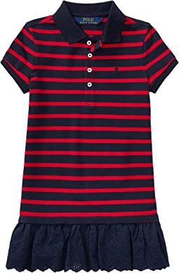 Polo Ralph Lauren Kids - Eyelet Hem Mesh Polo Dress (Little Kids)