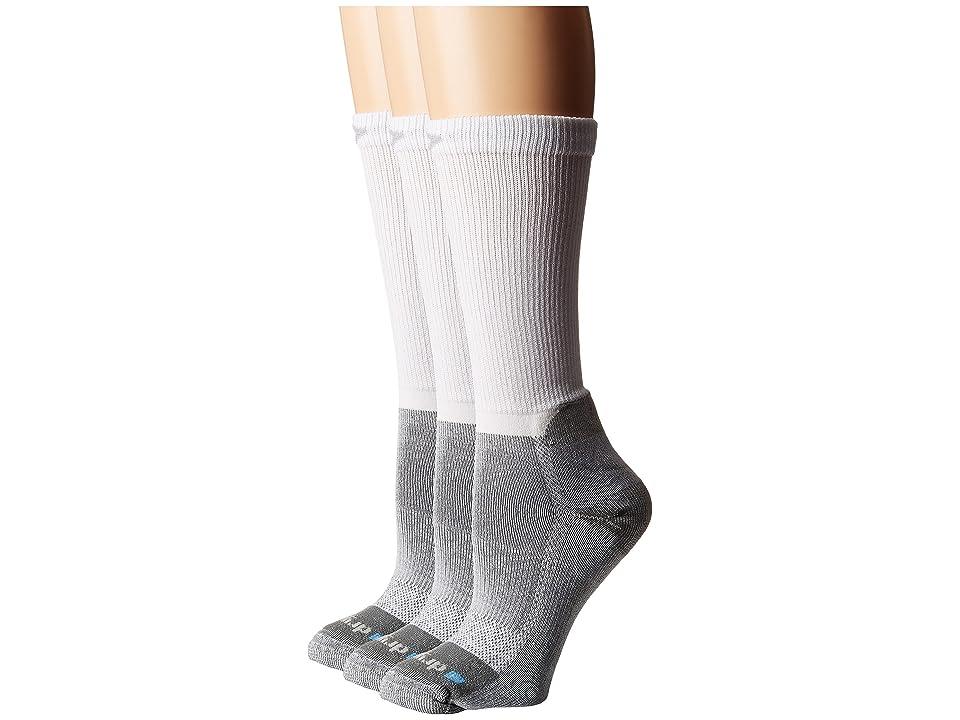 Drymax Sport Work Boot Over Calf 3-Pair (White/Gray) Women