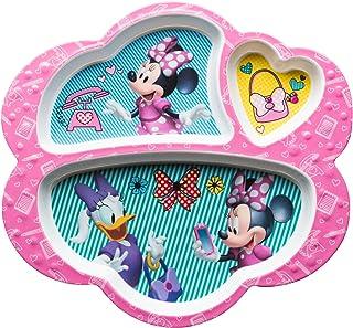 Zak Designs MMCX-0010-E-AMZ Platos divididos de Disney, 8.6 pulgadas por 9.3 pulgadas, Minnie Mouse & Daisy Duck