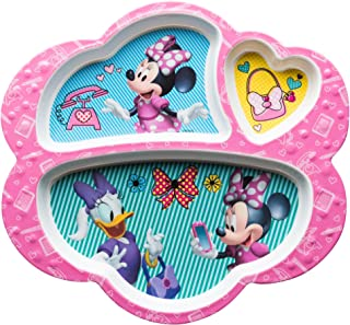 Zak Designs MMCX-0010-E-AMZ Disney Kids Divided Plates, Minnie Mouse & Daisy