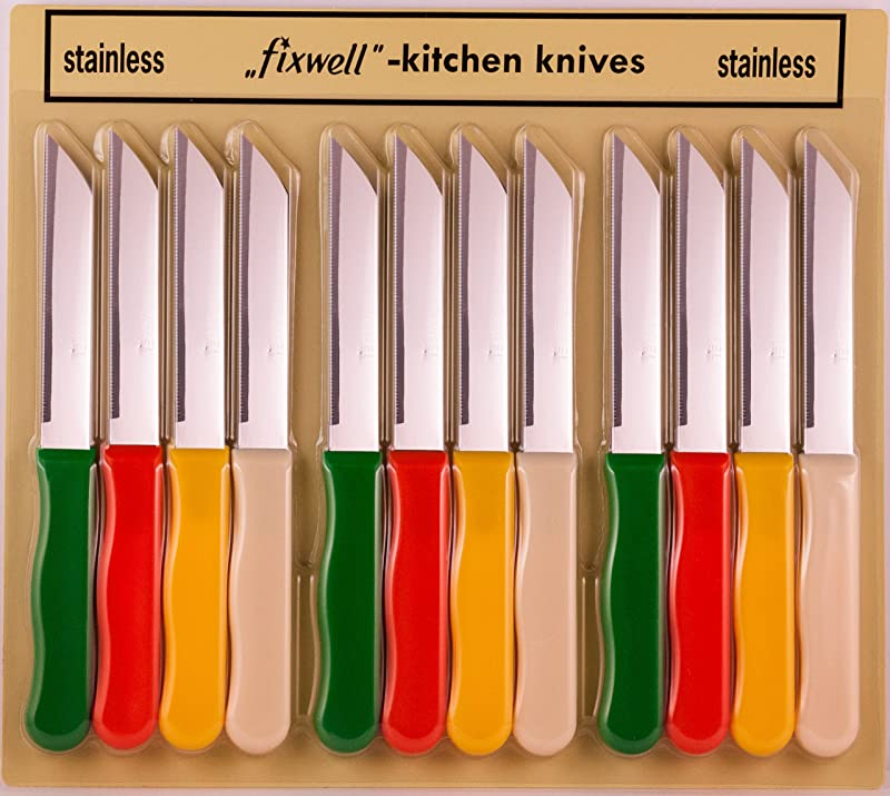 Fixwell 12 Piece Stainless Steel Knives Set Multicolor