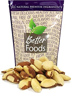 Raw Brazil Nuts 22 oz (Whole, Unsalted, No Shell, All Natural, Non-GMO, In Resealable Bag, Nutrient Dense Low Carb High Fa...