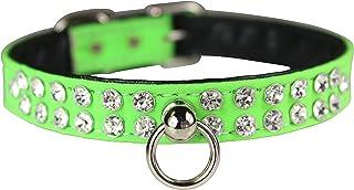 "OmniPet Majestic Crystal Pet Collar, 1/2"" x 10"", Neon Green"