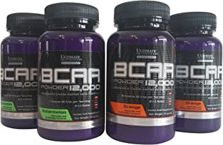 Ultimate Nutrition Flavored BCAA Powder Sample Pack: Orange and Watermelon