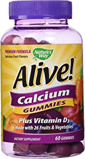 Natures Way, Calcium Alive Plus D 100 Mg, 60 Chewa