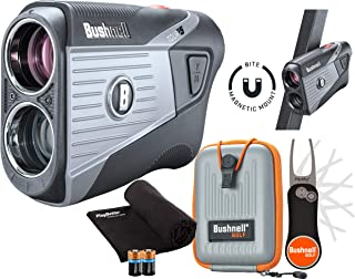 $314 » Bushnell Tour V5 (Standard) Golf Laser Rangefinder Patriot Pack Bundle | 2020 | +Carrying Case, Bushnell/PlayBetter Pitchf...