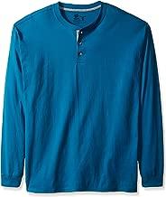 Hanes Men's Long-Sleeve Beefy Henley T-Shirt