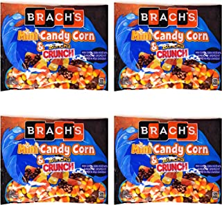 Brachs Mini Candy Corn & Buncha Crunch Halloween Candy - Pack of 4 Bags - 40 oz Total - Mini Candy Corn Mixed With Bunches of Crisped Rice Dipped in Milk Chocolate - Bulk Candy Mix