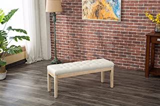 Best white wood fabric bench Reviews