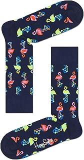 Happy Socks, Flamingo Sock Calcetines, Navy, 3-7 (Size:36-40) para Mujer
