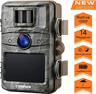 Campark T70 Trail Game Camera No Glow Night Vision 14MP 1080P Outdoor Hunting Cam..