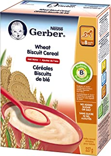 GERBER CEREAL Wheat Biscuit, Baby Food, Cereal, 8+ months, 227 g, 6 Pack
