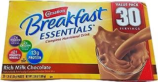 CARNATION BREAKFAST ESSENTIALS RICH MILK CHOCOLATE INSTANT BREAKFAST PACKETS IN BOX 37.76 OZ - 0050000123001