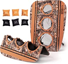 Realtree Bean Bag Toss - Camo Backyard Games for Kids, Adults, & Family - 2 Collapsible Camouflage Boards & 8 Bean Bags - ...
