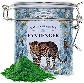 Japanese Matcha Green Tea Powder Ceremonial Grade (1 Oz). USDA Organic. First Harvest. High levels of Antioxidants and Amino Acids. Pantenger by Leopard Matcha