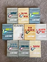 James Bond Novels - Set of 9 - The Man With the Golden Gun - Thunderball - You Only Live Twice - Goldfinger - Moonraker - ...