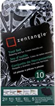 "Sakura #50111 Zentangle 10 Pc Set w/ 3.5"" Black Tiles"