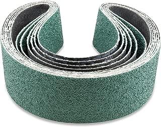 2 X 48 Inch 36 Grit Metal Grinding Zirconia Sanding Belts, 6 Pack
