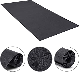 HomGarden Heavy Duty Exercise Equipment Mat for Home Gym, 60x30 Inches Floor Protector Mat,Non Slip Treadmill Bike Equipment Floor Mat for Shock Absorption