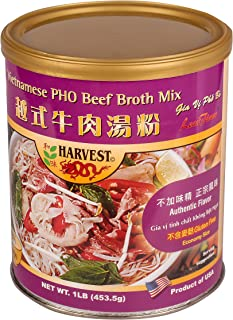 16oz Harvest Vietnamese Pho Beef Broth Mix, No MSG Added, Gluten Free, Pack of 1