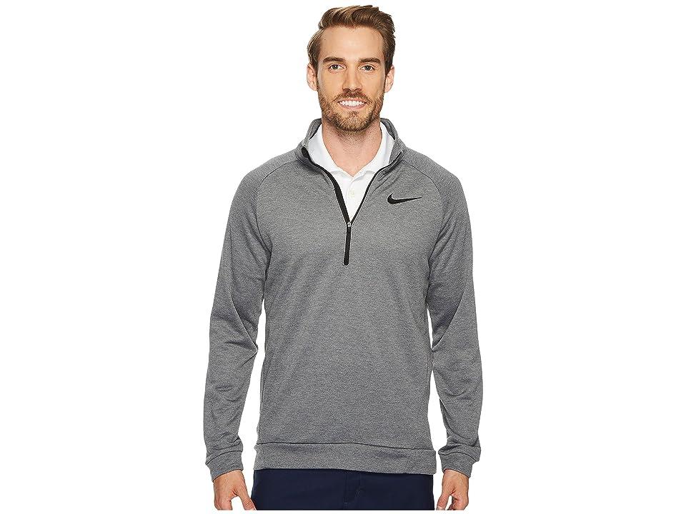 Nike Dry Training 1/4 Zip Top (Charcoal Heather/Black/Black) Men