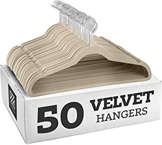 Best Zober Non-Slip Velvet Hangers - Suit Hangers (50-pack) Ultra Thin Space Saving 360 Degree Swivel Hook Strong and Durable Clothes Hangers Hold Up-To 10 Lbs, for Coats, Jackets, Pants, and Dress Clothes Review