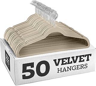 Zober Non-Slip Velvet Hangers - Suit Hangers (50-pack) Ultra Thin Space Saving 360 Degree Swivel Hook Strong and Durable C...