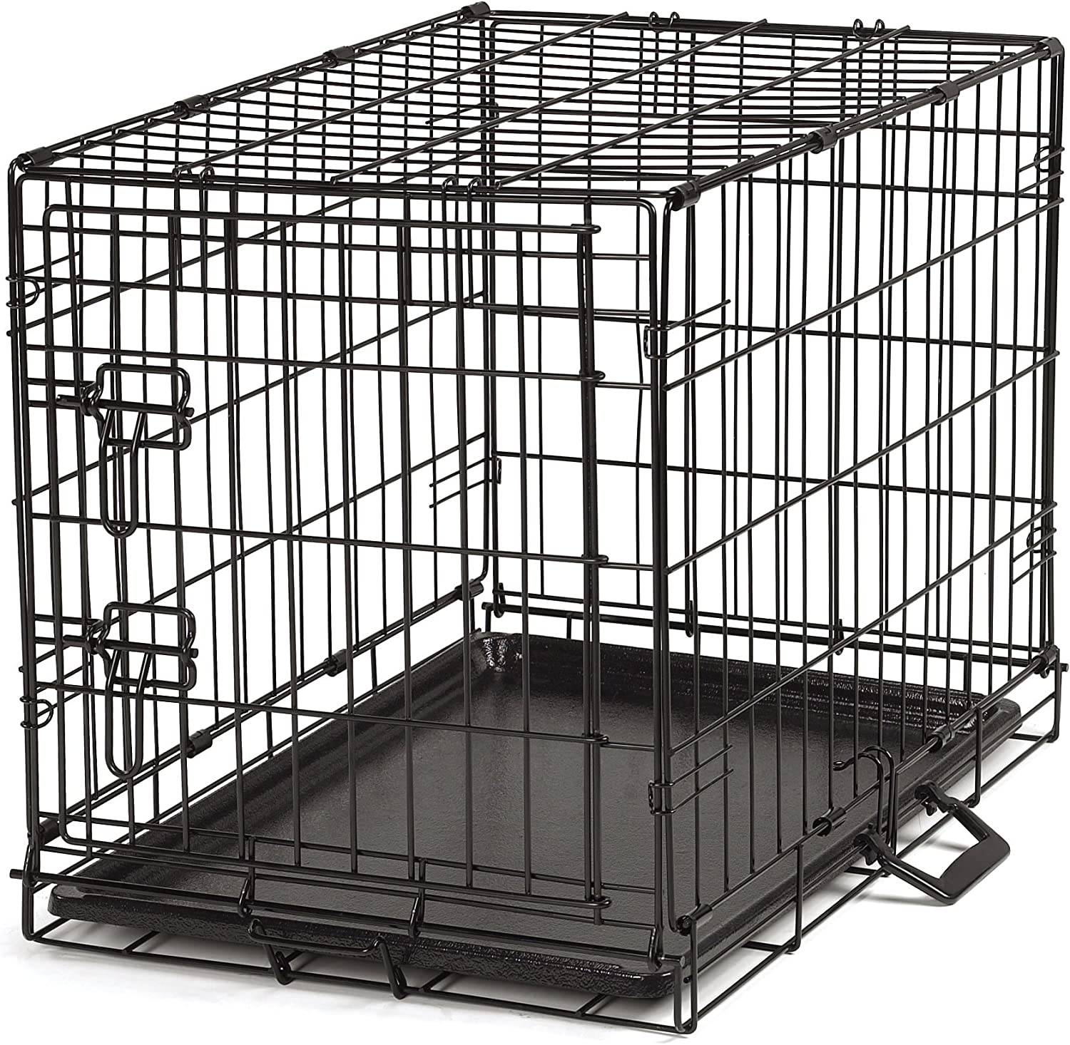 Ppinklect Easy Wire Dog Crate, Medium, Black