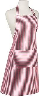Now Designs Basic Cotton Kitchen Chef's Apron, Narrow Stripe Red Print