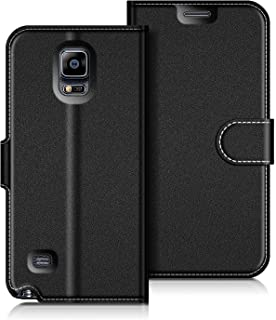 COODIO Funda Samsung Galaxy Note 4, Funda Cuero Samsung Galaxy Note 4, Funda Cartera Samsung Galaxy Note 4 Case con Magnético/Billetera/Soporte para Samsung Galaxy Note 4, Negro