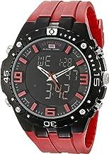 U.S. Polo Assn. ساعة يد رياضية رجالي مطبوع عليه The us9173الرياضي