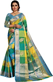 Silk Zone Women's Kanjivaram Silk Saree With Blouse Piece (MB0010,Multicolor,Free Size)