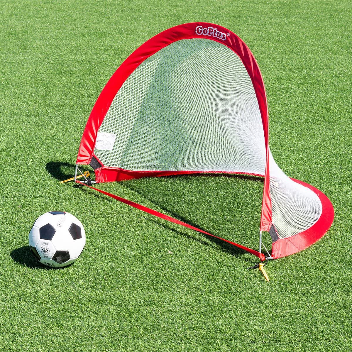 Collapsible Soccer Pop Up Goal Set of 2 Football Nets Portable Travel Bag 4ft