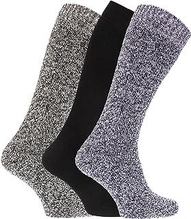Severyn, Calcetines térmicos para botas de agua o campo con mezcla de lana para hombre/caballero - Pack de 3 pares de calcetines