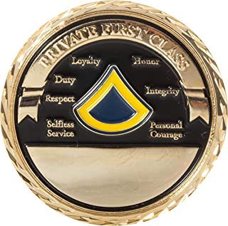 United States Army Private First Class Enlisted Soldier Rank Challenge Coin