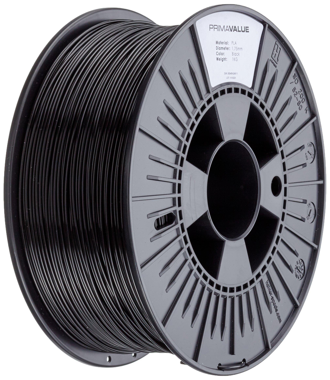 3D Prima PrimaValue PLA Filament Black 1.75 mm 1 kg Spool