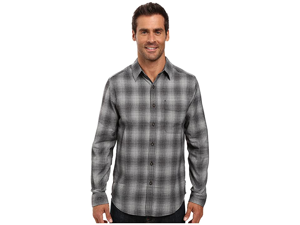 Royal Robbins Performance Flannel Ombre Long Sleeve Shirt (Charcoal) Men