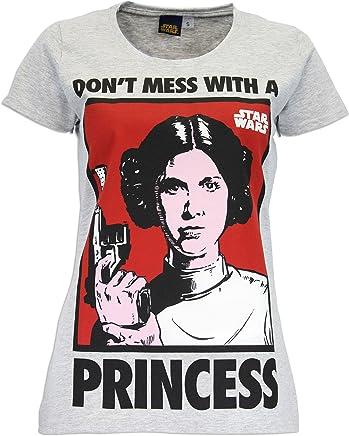 Star Wars - Camiseta para mujer de la Princesa Leia