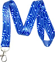 Circuit Board Print Lanyard Key Chain Id Badge Holder