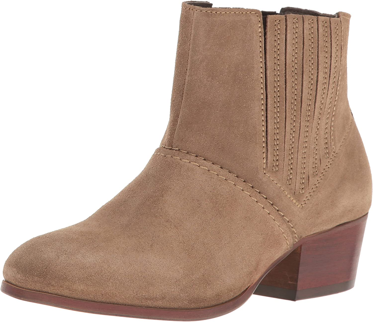 H By Hudson Womens Paige Suede Ankle Bootie