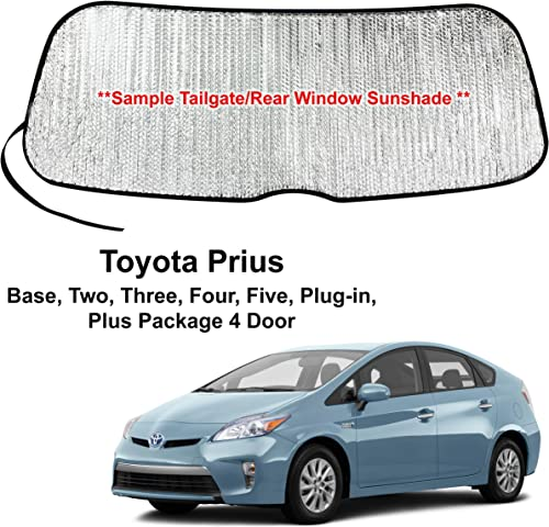 wholesale YelloPro Rear Tailgate Window Sunshade Custom Fit for 2010 2011 2012 2013 2014 2015 Toyota Prius Hatchback, Base, Two, Three, Four, Five, high quality Plug-in, Plus, UV Reflector Sun high quality Protection Accessories sale