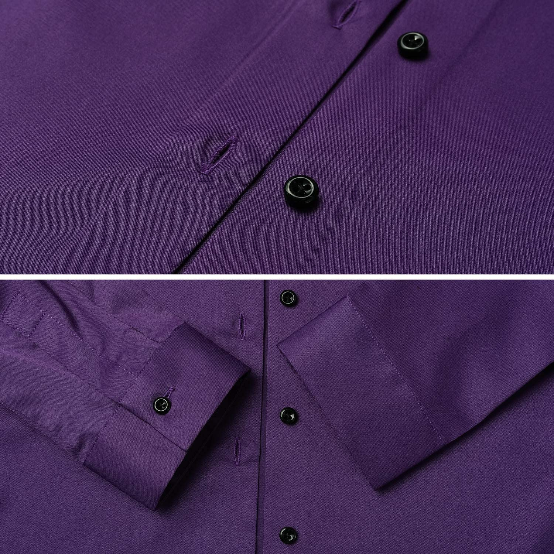 Blusa Elastica e Formale Manica Lunga Harrms Camicia Donna Fibra di bamb/ù Slim Fit