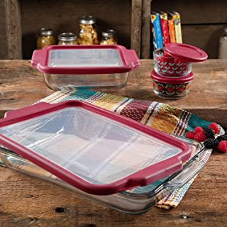 The Pioneer Woman Flea Market 8-Piece Glass Bake and Store Decorated Set